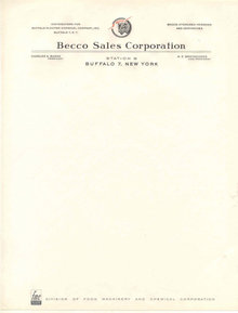 Becco Buffalo Stationary Sheet