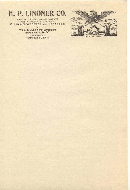 H.P. Lindner Tobacco Sheet