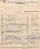Lancaster Grocery Receipt 1942