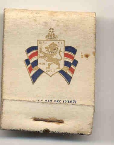 British War Relief Matchbook