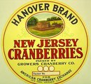 Hanover Cranberry Label NJ