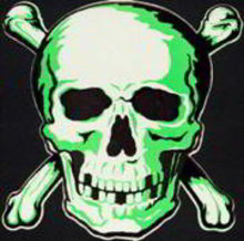 Diecut Halloween Skull Wall Hanging