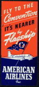 American Airlines Baggage Label