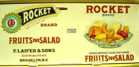 Rockets Fruit Label