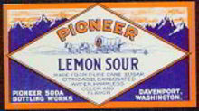 Pioneer Lemon Soda Label