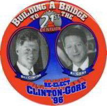Clinton Gore Pin