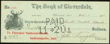 Cloverdale Bank Check