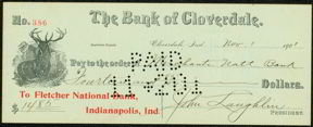 Cloverdale Bank Check