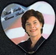 Laura Bush Heart Pin