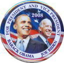 Obama Biden Pinback Pin