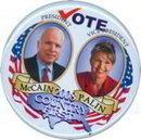 Palin McCain President Pin