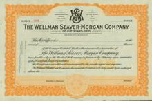 Wellman Seaver Morgan Stock Certificate