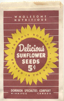Sunflower Seed Bag
