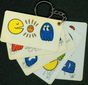 Pac Man Keychain Cards Toys
