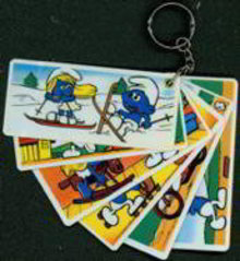 Smurf Keychain Cards Toys
