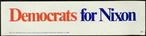 Democrats for Nixon Bumper Sticker