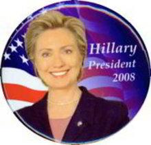 Hillary Clinton President Pin 2008