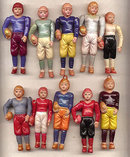 Celluloid Football Player Doll