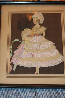 1932 Ribbon Lace Painting