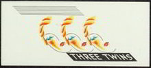 Three Twins Art Deco Cigar Label