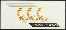 Three Twins Art Deco Cigar Label