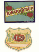 Early Ketchup labels