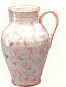 Earthenware Distressed Pitcher