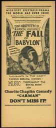 Charlie Chaplain Movie Handbill