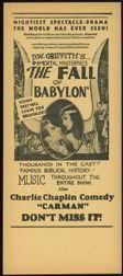 Charlie Chaplain Movie Handbill