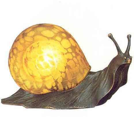 Amber Snail Lamp