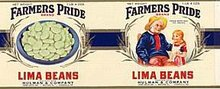 Farmers Pride Lima Bean Can Label