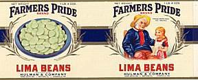 Farmers Pride Lima Bean Can Label