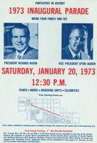 Nixon Inaugural Flyer