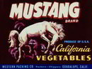 Mustang California Label