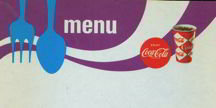 Coca-Cola Soda Menu Sheet