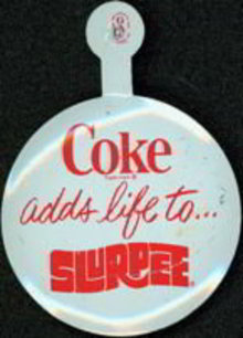Coke Tin Lapel Tab