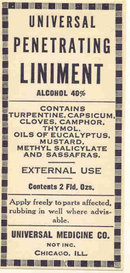 Liniment RX Label