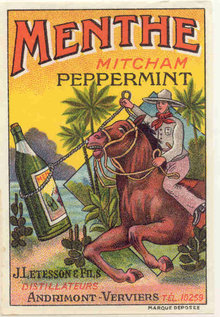 Menthe Peppermint Label