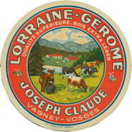 Lorraine-Gerome Cheese Label
