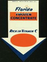 Florida Frozen Juice Sign