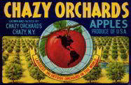 Chazy Orchards Apple Crate Label