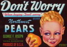Don't Worry Pears Crate Label
