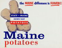 Maine Potato Sign