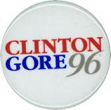 Clinton Gore Pinback Pin