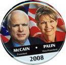 Palin McCain Pinback