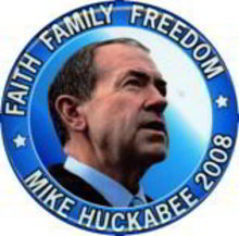 Mike Huckabee President Pin