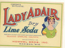 Lady Adair Soda Label