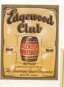Edgewood Club Whiskey Label