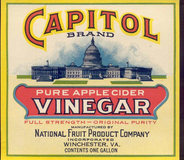 Capitol Vinegar Label