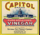 Capitol Vinegar Label